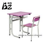 赤い金属学生の机および椅子(BZ-0051)