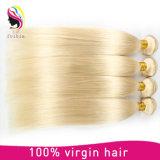 Venda quente loira Brasileira 613# reta de cor de cabelo humano Bundles