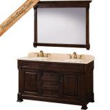 標準的で暗い純木の浴室用キャビネットの一定の浴室の虚栄心