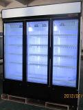 1500L тройной охладитель в вертикальном положении в коммерческих целях распашной двери
