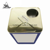 Barril de estaño de la cuchara química cilindro metálico 16L