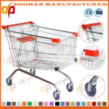 튼튼한 금속 유럽식 슈퍼마켓 쇼핑 카트 트롤리 (Zht136)