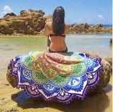 Hippie de la ronda de la playa de tapicería de tela de toalla tira Bikini Mat encubrimiento