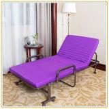 Justierbares fahrbares Bett mit Wein-roter Farbe der Matratze-190*65cm/einzelnem Bett