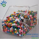 Countertop-freier Acrylmassensüßigkeit-Zufuhr-Kasten mit Plastikschaufel-Halter