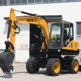 El chino HT75W Excavadora de ruedas hidráulicas
