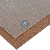 Panneau ondulé de PC de polycarbonate de relief par bronze