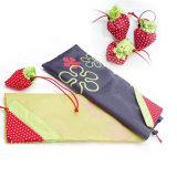 Eco faltbare Speicher-Handtaschen-Erdbeere-Einkaufstasche