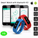 Muñequera impermeable inteligente pulsera Bluetooth 4.0 con sala de fitness Tracker H6