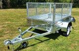 De gegalvaniseerde Aanhangwagen van de Doos van de Schuine stand met de Helling van het Aluminium