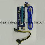 Nueva canalización vertical Molex 4pin 6pin USB3.0 de la canalización vertical GPU de 008s Pcie 16X para Btc Litecoin Eth