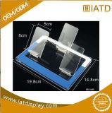 Fabrication acrylique claire en gros d'étalage de compteur de téléphone mobile