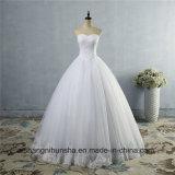 Schönes Rand-Spitze-Hochzeits-Kleid-neues Brautballkleid