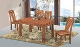 Tabelas e cadeiras de madeira de borracha de jantar do Heave 100%