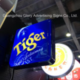 Custom Light Acrylic Street Aluminium Embossed Round Light Box