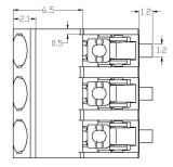 Gedruckte Schaltkarte (SMD) 3 Pin-Klemmenleiste 2060 Oberfläche-Einhängen