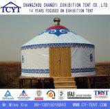Familia barato marco de bambú acampar Mongolia Yurt Carpa
