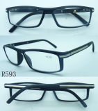 R593 gafas de lectura de buena calidad con decoración de metal