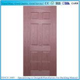 平らなHDFのMDFによって形成される自然で暗いベニヤのドアの皮
