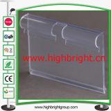 Прозрачная дешевая бирка ярлыка цены PVC для крюков