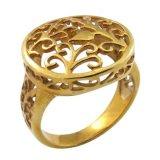 Anel de lembrança de ouro feminino de mulheres da Índia