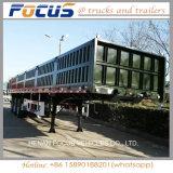 Dutychina pesado 45ton los 40FT semi-remolque del almacén de Dropside de 3 árboles