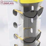 Support de plancher verrouillable verres de lunettes de soleil Présentoir acrylique blanc