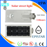 Tudo em uma luz de rua solar solar do diodo emissor de luz da iluminação de rua