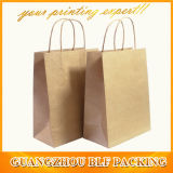 Sacolas de papel Kraft reciclado Brown