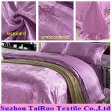 Напечатано кровать лист из жаккардовой ткани Атласная ткань