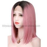 7A Lace Front Cheveux humains Perruques cheveux vierges brésilien Ombre cheveux roses