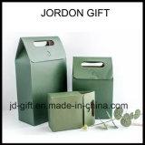 Bolso de encargo del regalo de las compras de la bolsa de papel de la insignia