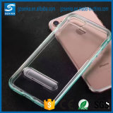 TPU effacent le cas transparent avec le support pour l'iPhone 6s plus