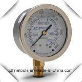 Vibration-Proofシリコーン油の圧力計か圧力計