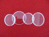 円形の光学明確な水晶レンズ