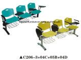 Bunter Plastikstuhl-Trainings-Stuhl mit Schreibens-Vorstand