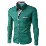 Les Mens amincissent les longues chemises de robe de chemise de chemise en bonne santé (A447)