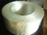 Bobinage itinérant de fils simples de filaments de fibre de verre assemblé mèches