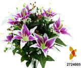 인공 적이고 Plastic/Silk Flower Tiger Lily 부시 (2724005)