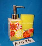 Accesorio del cuarto de baño de la dolomía 4PCS fijado con el embalaje del rectángulo de regalo