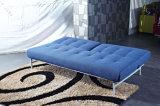 Простые ткани в сложенном виде диван-кровать с регулируемой спинки сиденья