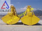 electro gancho agarrador hidráulico de la cubierta 6-12m3 para la grúa del infante de marina de 25 toneladas