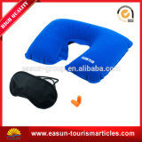 Plain Solid Color Inflatable Neck Pillow Inflight
