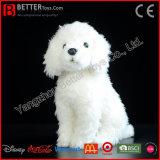 Perro suave de la felpa En71 del caniche del juguete realista del animal relleno para los cabritos