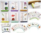 Tarjetas educativas que inclinan tarjetas
