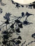 高品質のすべてOvrの印刷を用いる女性のための100%年の綿の粗紡糸のTシャツ