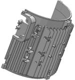 El Al a presión el molde de la fundición para la cubierta del motor