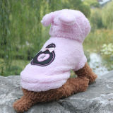 귀여운 양털 개 외투는 애완 동물 제품을 입는다