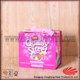 Boîte Shaped de empaquetage à sucrerie de livre de cadeau de papier rigide populaire