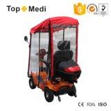 Vespa Handicapped de la movilidad de la energía eléctrica del asiento del vehículo de Topmedi con el toldo y el rectángulo de almacenaje de Motobike